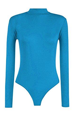Momo&Ayat Fashions dames schildpad hoge hals lange mouwen Jersey Bodysuit UK Maat 8-14
