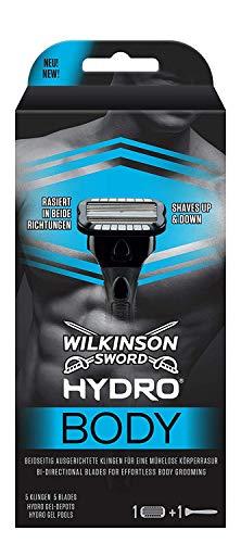 Wilkinson Sword Hydro Body Herren Rasierer für Körperrasur, Rasierer + 1 Rasierklinge