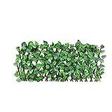 La expansión de la cerca del enrejado Valla retráctil, Valla retráctil Artificial Hoja de imitación Ivy ampliable pantalla valla de privacidad de valla del jardín del patio trasero Paredes