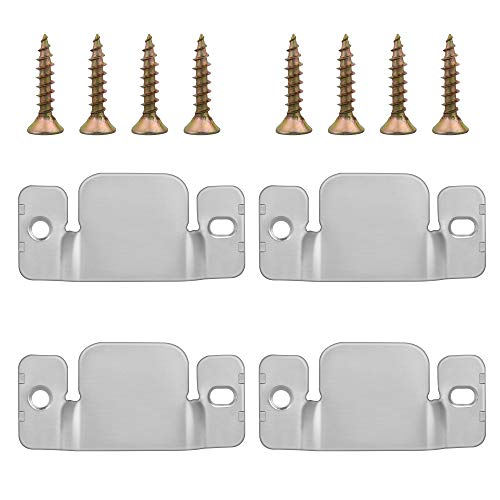 OSGP 4 Sets Sectional Couch Connectors Furnitures for Small Sofa and Sectionals, Sectional Sofa Connectors with Screws, Modular Sofa Connector Brackets Suitable for Small Sectional Couch