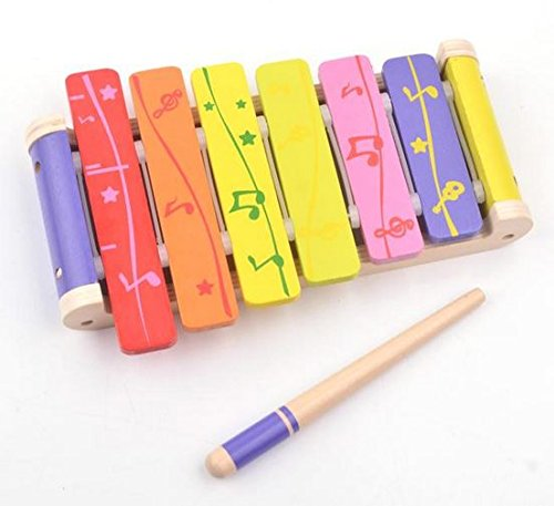 B&Julian ® Kinder Xylophon aus Holz 6 bunt...