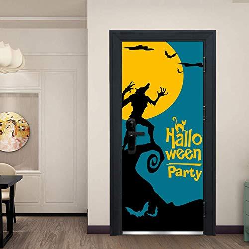 Türposter Schreckliche Werwolf Bild 3D Tür Aufkleber Vinyl Tapete Abnehmbare Aufkleber Poster Diy Kunst Dekoration 77 Cm X 200 Cm