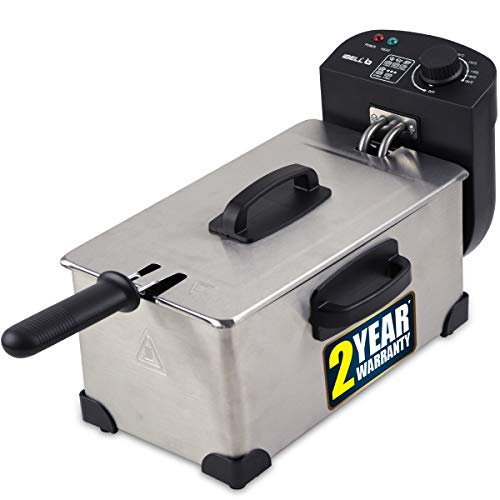 IBELL IBLDF1113L 3 Liters 2000W Electric Deep Fryer With Variable Temperature Control, Silver