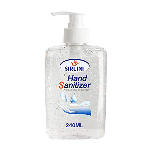 SHUDAGE 240ML Portable Refreshing Hand Soap Gel to Instant Skin Cleansing, Disposable Sanitizer Hand Gel for Adults Children, Soft and Non-irritating Hand Wash Gel Rinse-Free Hand Cleanser (240ML)