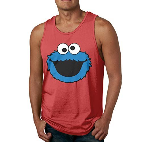 Happiness Station Men's Sleeveless Beach Tank Tops, Fitness Shirts Printing Cookie Smile