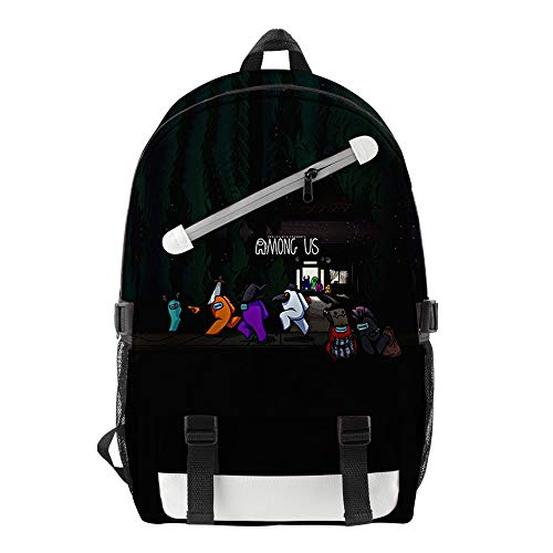 HETUI Backpack Womens Laptop Bag Among Us Singer Peripheral Urban Casual Men's And Women's School Bag Travel Bag Trend New Among Us Costume Magic The Gathering Backpack