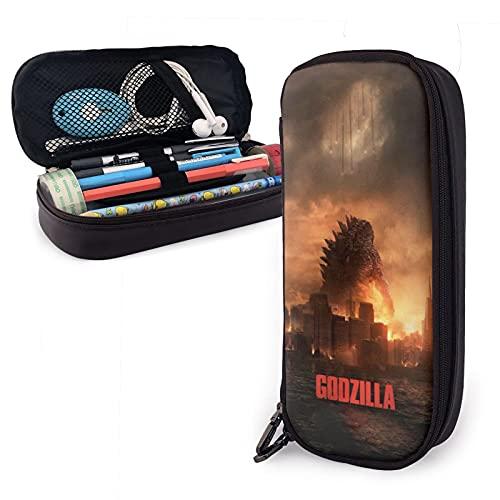 Joseph Brody niedliche Elle Brodie Godzilla Smash Federmäppchen für 3 Stifte, Büro, Stifthalter, Stoff, Bleistift-Aufbewahrung, für Schule, Muttertagsgeschenk