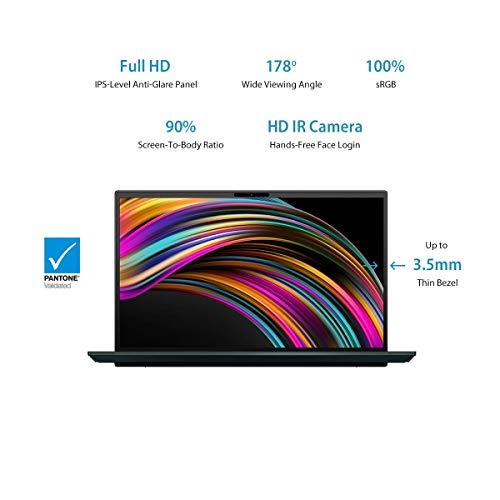 ASUS ZenBook Duo UX481FL-BM5811T Intel Core i5 10th Gen 14-inch FHD Thin and Light Laptop (8GB RAM/512GB NVMe SSD/Windows 10/2GB NVIDIA GeForce MX250 Graphics/ScreenPad Plus/1.50 Kg), Celestial Blue