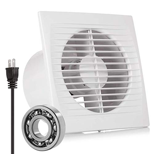 Exhaust Fan Extractor, HG POWER Ultra Silent 6 Inch Home Ventilation Fan Bathroom Garage Moisture Exhaust Fan 150mm - Strong Exhaust for Kitchen/Bathroom/Bedroom/Office (Ceiling and Wall Mount)-C