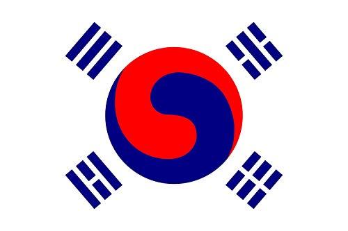 magFlags Drapeau Large Korea November 1882 | November 1882 Version of The Flag of Korea | 1882? 11?? ??? | Drapeau Paysage | 1.35m² | 90x150cm