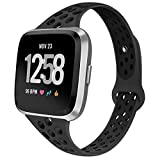 GHIJKL Sports Bands Compatible with Fitbit Versa, Breathble Soft Narrow Slim...