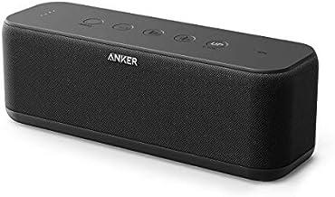 Anker SoundCore Boost bocina Bluetooth de 20W con tecnología BassUp - 12 horas en reproducción, IPX5 resistente al agua, batería portable con alcance Bluetooth de 66 pies - Sonido y graves superiores para iPhone, Samsung y otros