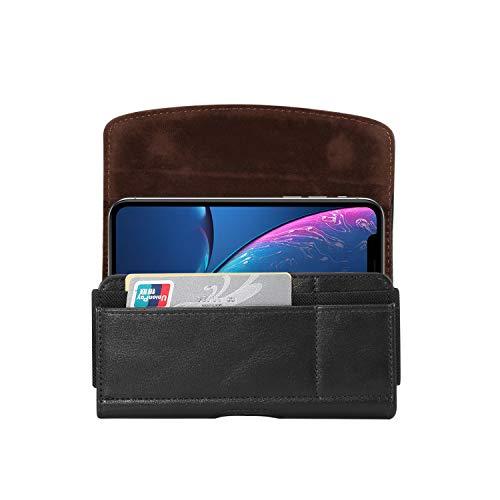 Herren Outdoor Gürtelclip Handyhülle Kartenfächer Tasche für Motorola Moto E5 Plus/Moto G6 Play/Moto Z3 / Z3 Play/Moto Z2/Moto Z4 Play/Huawei Honor 8C/P20 Pro/Maste SE