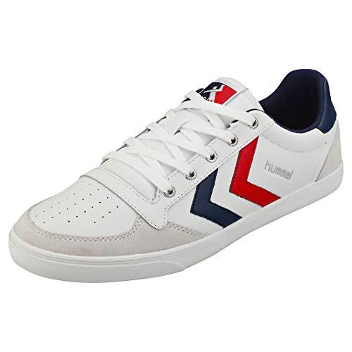 Hummel Slimmer Stadil Low Sneaker weiß/blau, 40 EU - 6.5 UK - 7.5 US