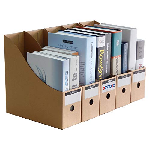 OFFIDIX Office 5 livelli Kraft Paper Desktop Storage Box Porta documenti A4 Organizzatore di carta per Home Office Contenitore di carta DIY File Storage Box Cassetto Armadietto di stoccaggio
