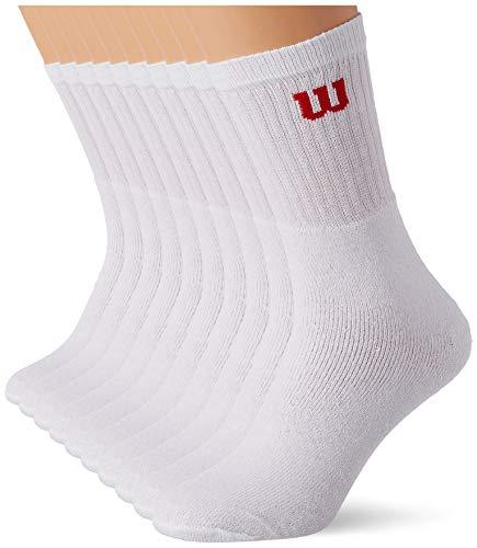 Wilson Pouch Heel 8Y60 Calcetines, Blanc, 39-42 para Hombre