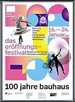 ポスター バウハウス 100 Jahre Bauhaus Festival 2019 white 額装品 アルミ製ベーシックフレーム(ブラック)