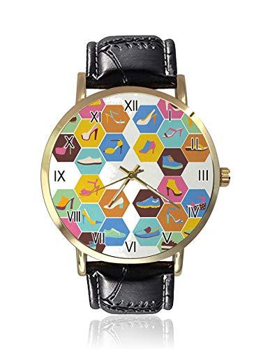 Calzature moda donne e uomini scarpe Icons in Little Hexagon Frames orologio donna sport orologio donna tempo libero