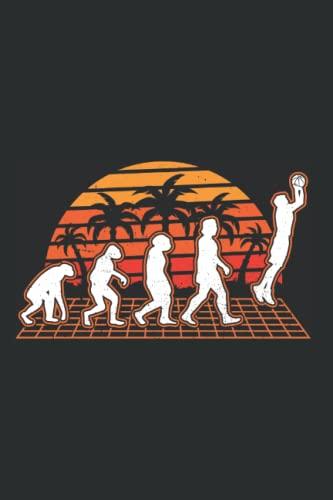 Basketball Tagesplaner: Basketball Evolution Sunset Basketballer / Kalender 2022 / Wochenplaner Tagesplaner Planer / Planungsbuch To-Do-Liste / 6x9 Zoll / 100 ausfüllbare Seiten