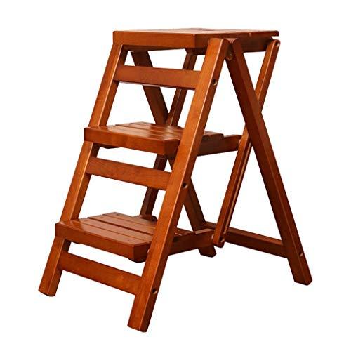 HUAXUE ZHXZHXMY Simple Family Stool 3 Madera for Adultos Asiento Plegable Escalera de heces for Salón Dormitorio Balcón Jardín Soporte de la Planta de Escalera en Forma de Zapatero (Color : B)