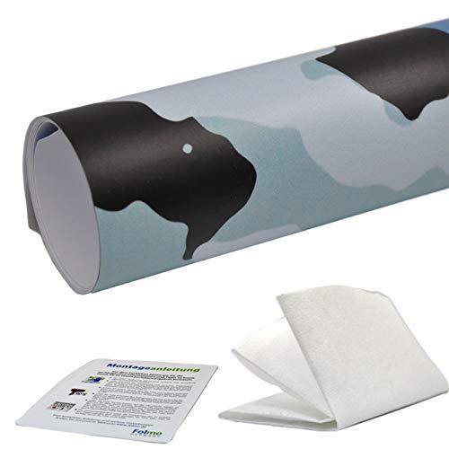 35,07€/m² Auto Folie Camouflage Tarnfolie Sticker Bomb Car Wrap Folie Streifen + ultrafeines Microfasertuch, Selbstkebefolie mit Luftkanälen (30cm x 150cm, Camo 17)
