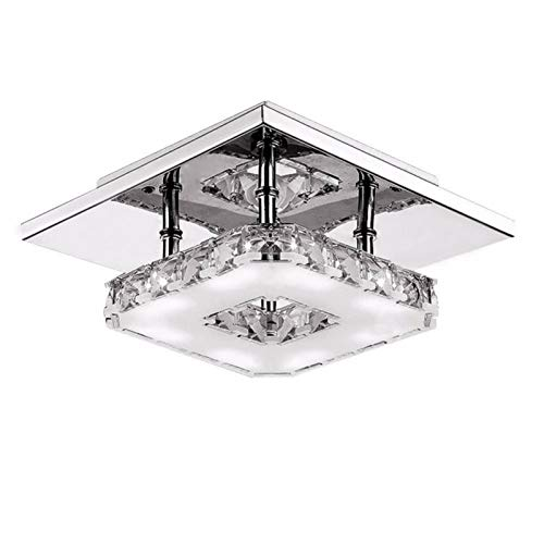 LIUYU Lámpara de Cristal 85-265V LED de 12W de Techo Base de la Bombilla de Alta Transmisión de Luz Blanca Fría Blanco Caliente de la lámpara Pendiente Moderna (Body Color : Warm, Size : Gratis)