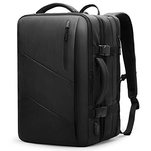 MARKRYDEN Laptop Backpack Business Carry-on Travel Backpack, Lightweight Flight-Approved Expandable Bag with USB Charging Port fit 17.3 Laptop 26-38L
