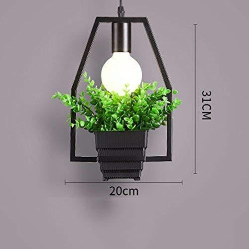 JUN Gzz Deng Home buitenverlichting moderne vintage hanglamp hanglamp industriële verlichting plant bonsai C keuken woonkamer slaapkamer kroonluchter decoratieve