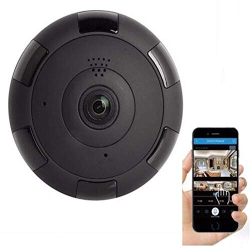 Panoramic Camera 360 Degrees, VR geen dode hoek Webcam, HD Night Vision, Het bekijken van Zaal zonder Blind Area, Night Vision, Two Way Audio, Motion Detection Babyfoon met camera,leilims