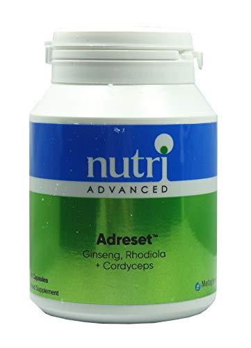 Nutri Advanced Adreset - Ginseng, Rhodiola, Cordyceps (60 caps). Vegan Formula. by Nutri