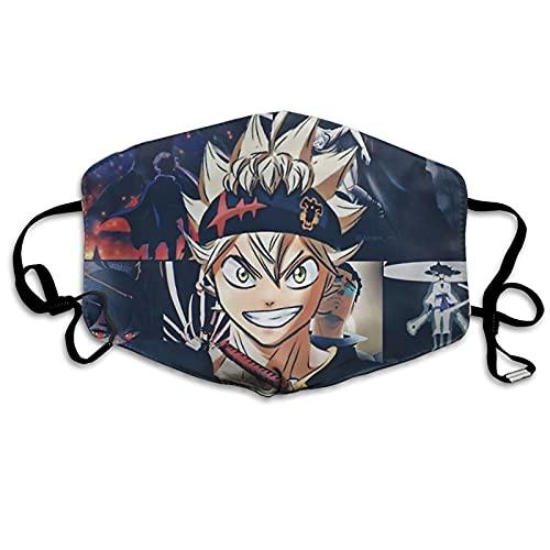 Black Clover Anime Face Masks For Men Women Washable Breathable