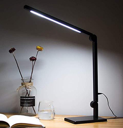 Kitlit LED Schreibtischlampe Augenschutz Tageslichtlampe,Metall Schwenkarm Architektenlampe Tischlampe,Stufenlos Helligkeit Dimmbar Farbe,Touch Control,Büro Tischleuchte Arbeitslampe Nachttischlampe