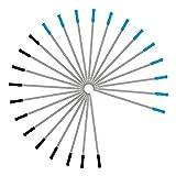 Recambio de Bolígrafos Metal Recambios de Punta Mediana para Bolígrafos de Bola Negro Azul Tinta Escritura Lisa 24 Piezas