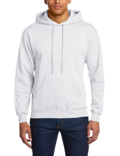 Fruit of the Loom 12208B, Sudadera con Capucha Para Hombre, Blanco (White), Medium