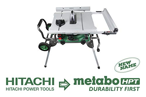 Metabo HPT C10RJ 10' Jobsite Table Saw, Class-Leading 35' Rip Capacity, Fold & Roll Stand, 8 x...