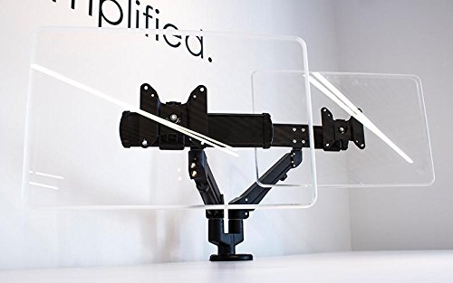 Edge Series Dual Monitor Arm with 2 Motion Limbs, 2 Sliders, Black: ESI Ergo EDGE2-MS-BLK (1 Monitor Arm)
