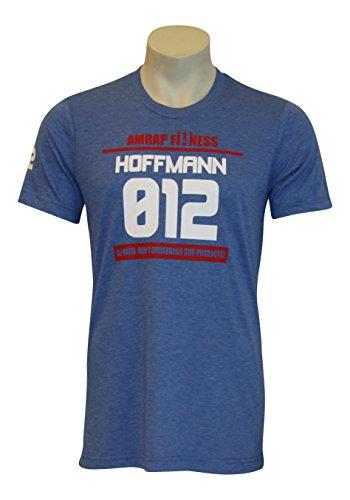 AMRAP Athlete Shirt – Individuell für dein CrossFit – WOD hergestellt, Slim-Fit aus Tri-Blend Material für Herren (Hellblau, M)