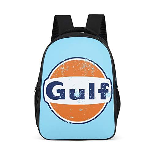 O5KFD&8 Sac à Dos de Golf, Le Style rétro Fonctionne avec Schul Sac à Dos pour garçon, Adolescent, Orange et Bleu Gris Gris Taille Unique