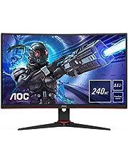 AOC Gaming C27G2ZE – 27-calowy monitor FHD Curved 240 Hz, 0,5 ms, FreeSync Premium (1920 x 1080, HDMI, DisplayPort) czarny/czerwony