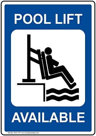 Wendana Handicap Zwembad Lift Sign, Aluminium Metalen Waarschuwingsborden Grappig, Privé Teken, Kennisbord Voor Poort, 8