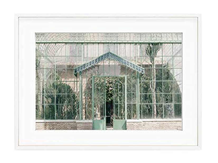 Green House Black Satin Aluminium Frame, Full Size, Multicolored, 50x70