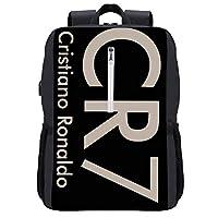 Cristiano Ronaldo CR71 リュック 軽量 ビジネスリュック バッ 盗難防止、USB充電機能付き アウトドア旅行 ラップトップバッグ、多機能通気性収納 通学リュック 学生 男女兼用