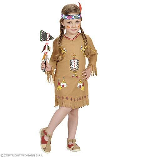 Costume Indiana Pellerossa Squaw - Bambina - Taglia: 98 cm (1-2 Anni)