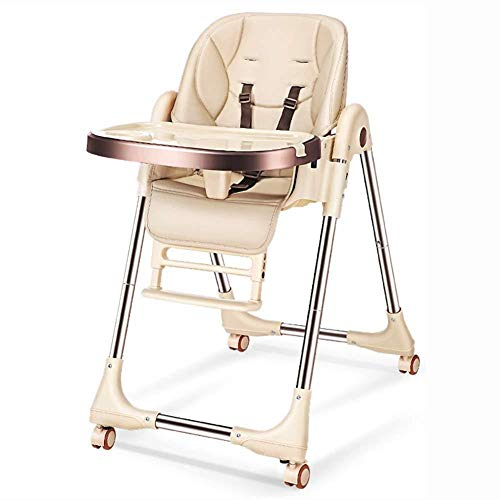 Buy Baby Adjustable High Chair, Fold Toddlers Booster Feeding Seat for Dining, 5 Point Harness Washa...