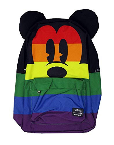Loungefly Mickey Mouse Rainbow Nylon Backpack