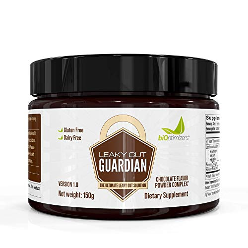 Leaky Gut Guardian - Chocolate - Has Lactobacillus Strains, Bone Broth & Collagen - Source of L-Glutamine - 30 Servings - 150g