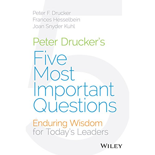 Peter Drucker's Five Most Important Questions audiobook cover art