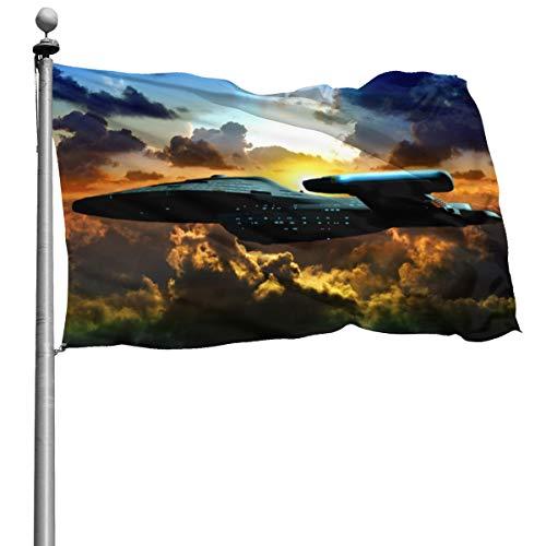 Star Trek Flagge, 10,2 x 15,2 cm, dekorativ, langlebig, für den Garten und den Innenbereich, Heimdekoration, Druckdekoration