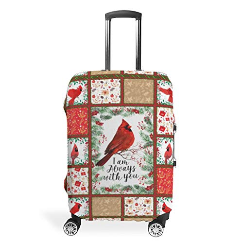 Red Bird Animal Suitcase Protector Reusable Anti-Scratch Fits 18-32 Inch for Wheeled Suitcase Over Softsided White 19-21in