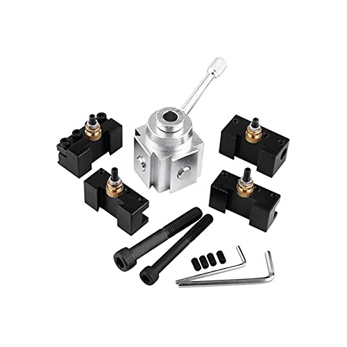 GIS 1 Conjunto de aleación de Aluminio Cambio rápido Mini Torno Herramienta Post y Soportes Juego de Kits de Tornillo